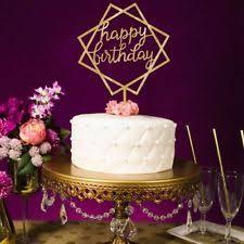 Cake Wedding Happy Birthday Cake Topper Card Acrylic Cake Party