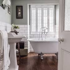 traditional bathroom with claw foot bath