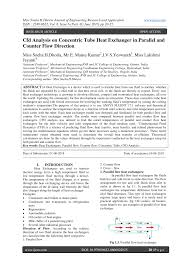 Design Of Counter Flow Heat Exchanger Pdf Cfd Analysis On Concentric Tube Heat Exchanger In