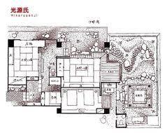 japanese house plans. Japanese Ryokan Shuku Kaifu Minamichita Yamami Onsen, Aichi Hikaru Genji No Ma With Open- House Plans