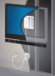 legrand in wall flat screen power and