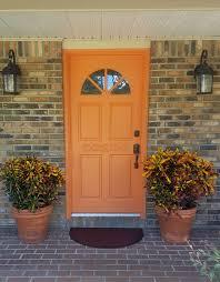 modern front door orange. Imposing Design Orange Front Door Paint Modern Masters Cafe Blog Y
