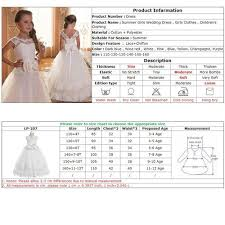 Girls Clothing Chart Kids Dresses For Girls Wedding Dress Teenagers Evening Party Princess Dress For Girls Easter Costume 3 12 Years Vova