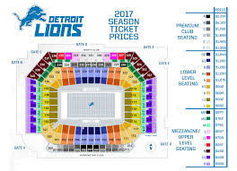 Lions 2017 Season Ticket Pricing Detroitlions