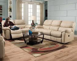 cream leather recliner sofa set