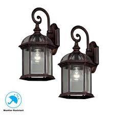 twin pack 1 light weathered bronze outdoor lantern