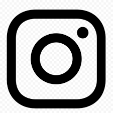 white outline insram app logo icon