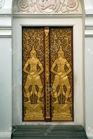 Art Blacked Wood Doors Are Beautiful, Which Is The Symbol Of.. Stock ...