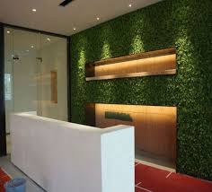 fake artificial grass wall decor for