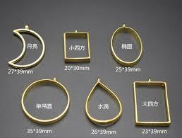 2019 metal frame open bezel setting blank pendant for uv resin jewelry making moon round oval shape from zebrear 33 57 dhgate com