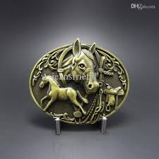 <b>Wholesale Retail</b> Belt Buckle Antique Bronze Plated <b>Horse</b> Western ...