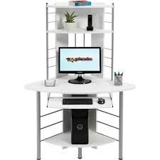 piranha quality compact corner computer desk with shelves for home office pc 8s