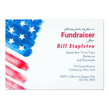 Political Fundraising Invitations Painted Flag Political Fundraiser Invitation