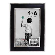home elements picture frame 4 inch x 6 inch black silver