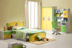 Designer Childrens Bedroom Furniture Of Contemporary Colorful Children With  Green Bed And Yellow Closet Awesome Desk