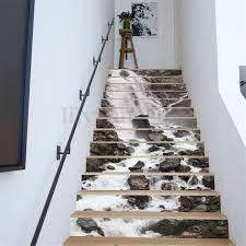 13Pcs 3D Waterfall Stair Risers Decor ...