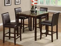 Marble Top Kitchen Table Set Anise Counter Height Dining Table Set With Marble Top