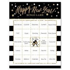Office Bingo New Years Eve Gold Party Bingo Game Holiday Office Party