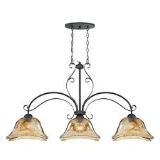 millennium lighting sworth burnished gold three light island pendant with umber swirl glass