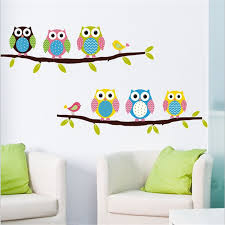 Small Picture Aliexpresscom Buy Cartoon Lovely Owl tree House Wall Stickers