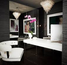 black and white home office. View Full Size. Stunning Black And White Office Home