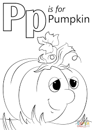 Small Picture Letter P is for Pumpkin coloring page Free Printable Coloring Pages