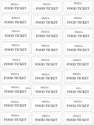 Free Meal Ticket Template New Meal Ticket Template Pizza Food Ticket Hi DvERhy Gallery One Meal