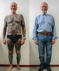 Пожилые люди с татуировками или forever