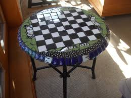 table recycled materials. Mosaic Coffee/chess Table Handmade By Littleb From Recycled Materials. Designs Available For Purchase Materials
