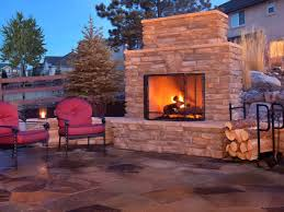 image of free outdoor fireplace construction plans