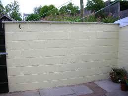 painting block wallBuild a garden wall  DIY Building