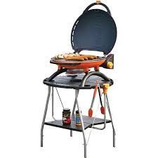 napoleon travelq portable propane gas bbq grill with collapsible stand