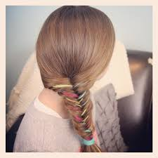 yarn fishtail braid temporary color highlights cute hairstyles