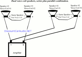 speakers wiring diagram parallel series speaker wiring diagrams discountcaraudio net subwoofer speaker diagram