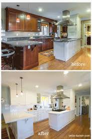 painted white kitchen cabinets before and after white painted cabinets bella tucker decorative finishes70 kitchen
