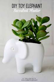 5 toy elephant succulent planter