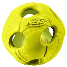 <b>Игрушка для собак</b> мяч <b>Nerf</b> Dog светящийся 9 см купить по цене ...