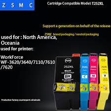 Us 15 8 10pcs Compatible Epson 252xl Ink Cartridge T2521 T252xl For Wf 3620 Wf 3640 Wf 7110 Wf 7610 Wf 7620 Printer In Ink Cartridges From Computer
