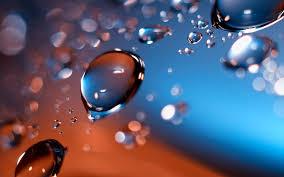 wallpaper macro water drops in the air hd wallpaper