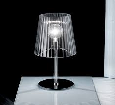 adorable crystal lamp with cute ar and bright lamp ray on square white table plus black wall fit to stunning contemporary table lamps
