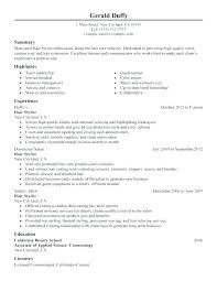 Cosmetology Resume Template Custom Cosmetology Sample Resumes Sample Resume For Cosmetologist Resume