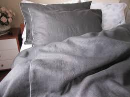 Black Charcoal dark gray linen QUEEN or KING duvet cover with & ð???zoom Adamdwight.com