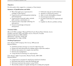 Data Analyst Duties Entry Level Finance Resume Financial Analyst Cover Letter