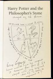 j k rowling s personal copy of the first harry potter book  jk rowling s personally annotated first edition of harry potter and the philosopher s stone is due to