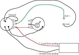 pickup wiring diagram one volume tone pickup wiring diagrams guitar wiring diagrams