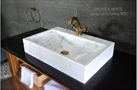 bathroom white marble vessel sink faucet hole pegasus white reference bb514ew us