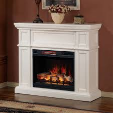 artesian white infrared electric fireplace mantel fireplaces wood inserts travertine stacked stone inch insert candle set