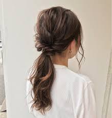 ローポニーテールの髪型まとめ長さ別に簡単作り方を動画で解説