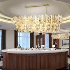 luxury post modern gold hotel project pendant chandelier light in k9 crystal for lobby