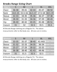 9 Size Chart Brooks Club Level Brands Brooks Size Chart
